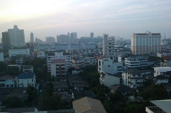 Bangkok's business district is still dry, but until when?